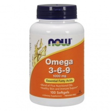 Антиоксидант NOW Omega 3-6-9 100 Softgels -1000mg